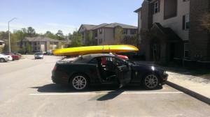Car with Kayak
